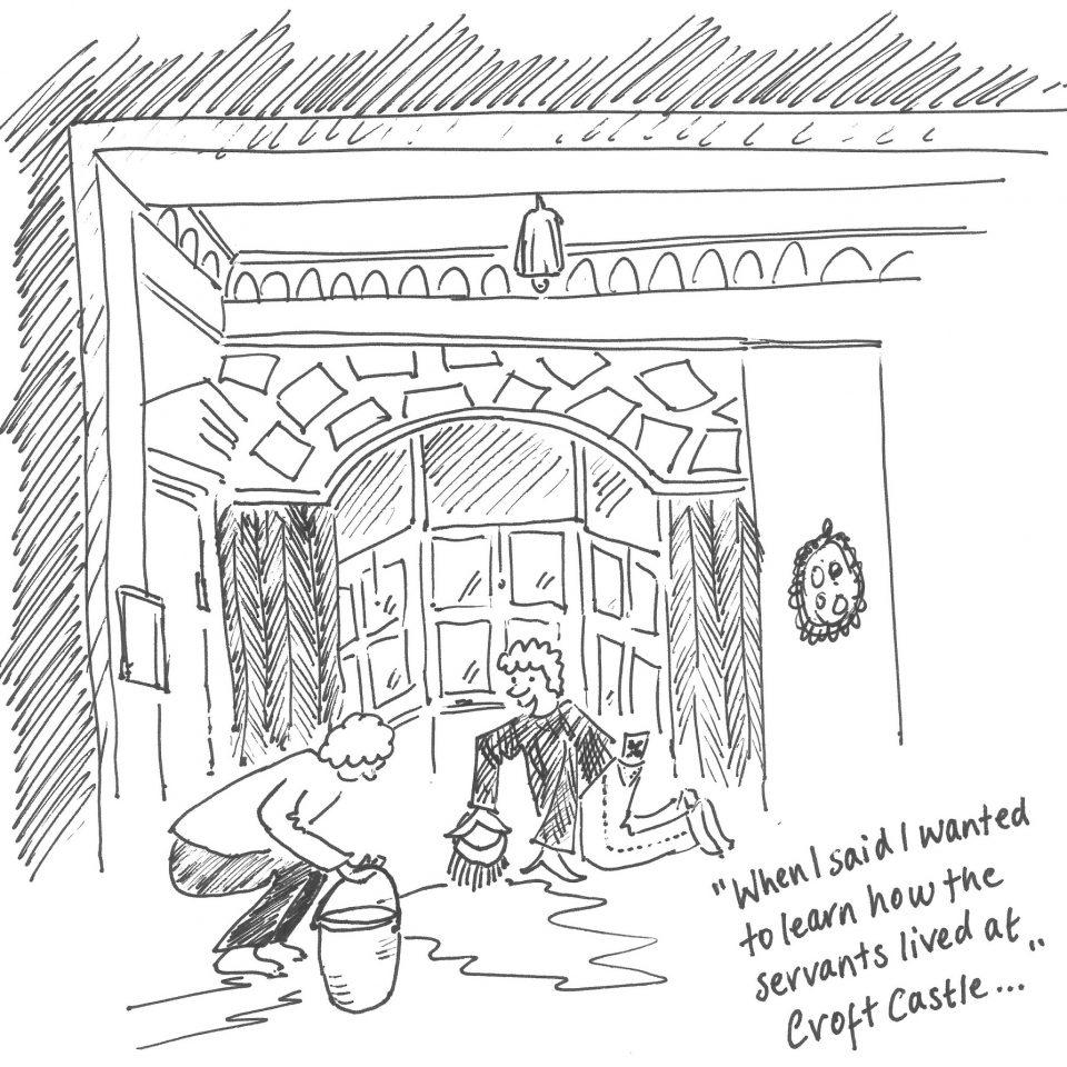 Croft Castle cartoon for Innocastle project