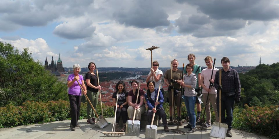 Czech National Trust working party at Strahov Monastery, Prague