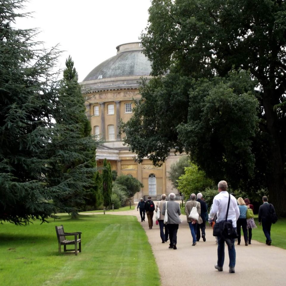 INTO Cambridge 2015 delegates arriving at Ickworth