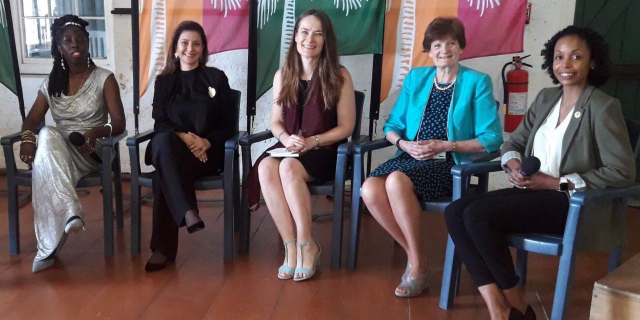 INTO Bermuda 2019 Panel with Queen Quet, Princess Dana, Catherine Leonard, Fiona Reynolds and Alana Anderson