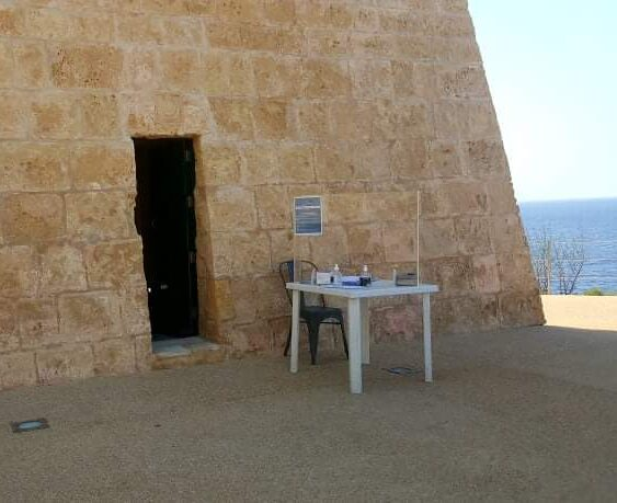 National Trust of Malta heritage site entrace with protective shield