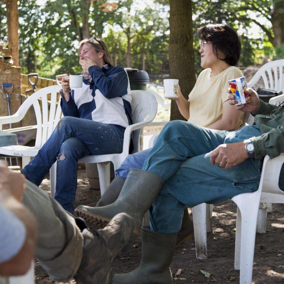 Community engagement tea break