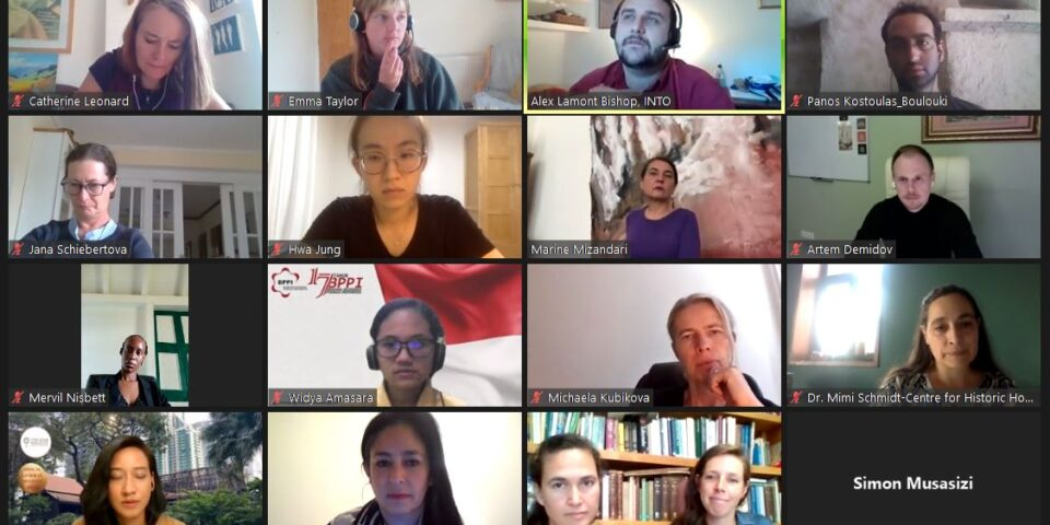 The 2021 Incubator participants on zoom